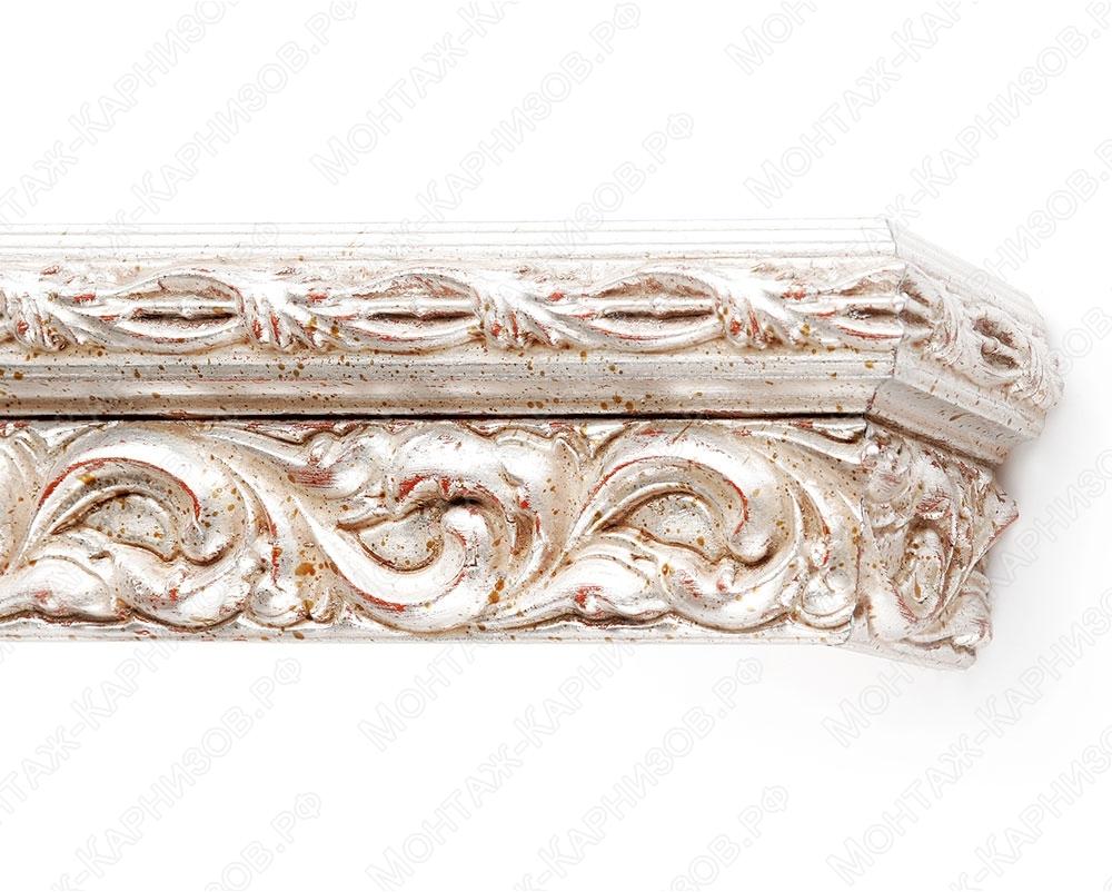 """Багетный карниз для штор """"Версаль"""" цвет """"серебро античное"""""""
