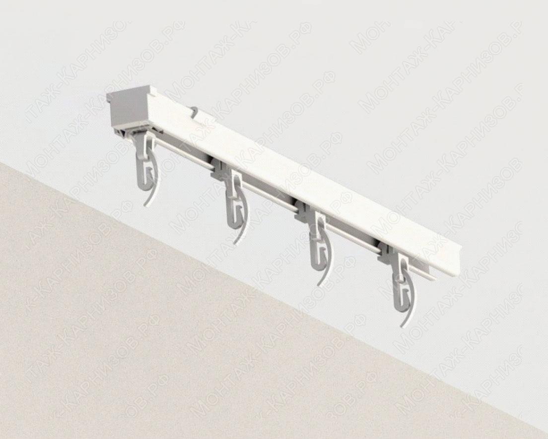 Профильный карниз для штор KS крепление к потолку