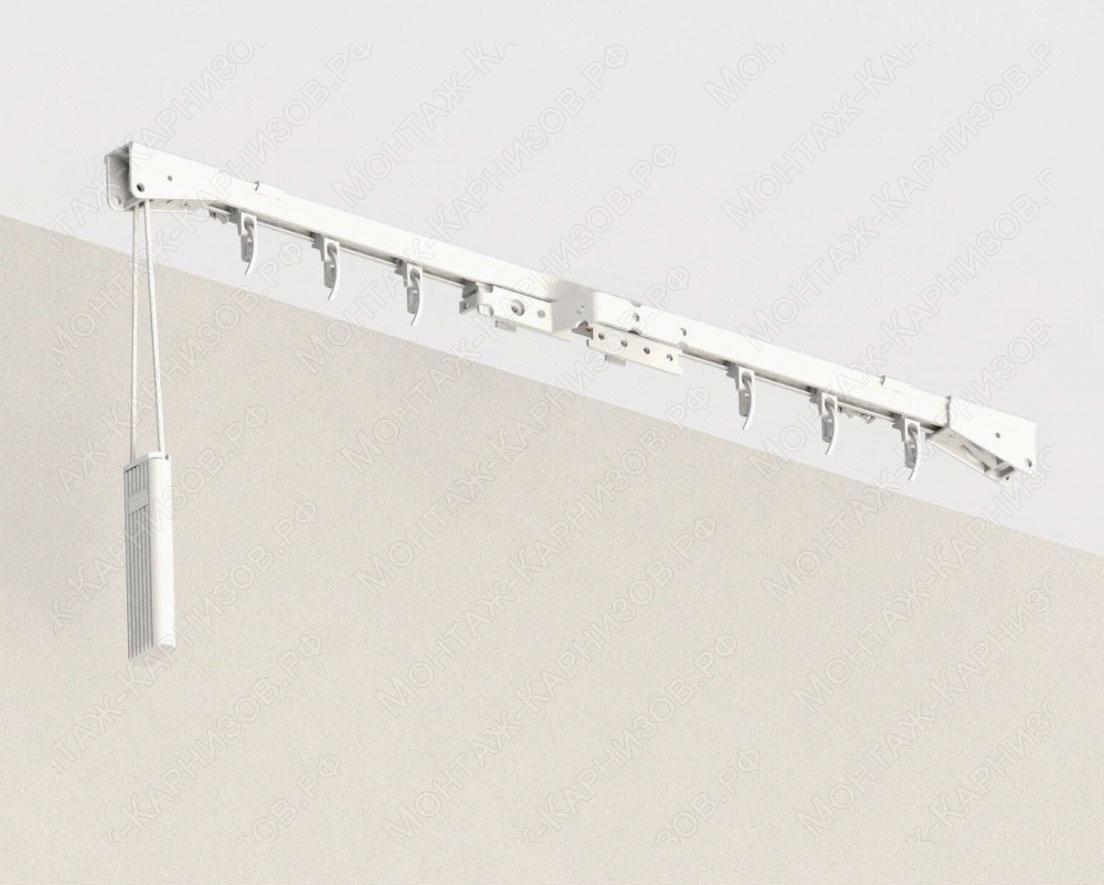 Профильный карниз для штор CKS крепление к потолку