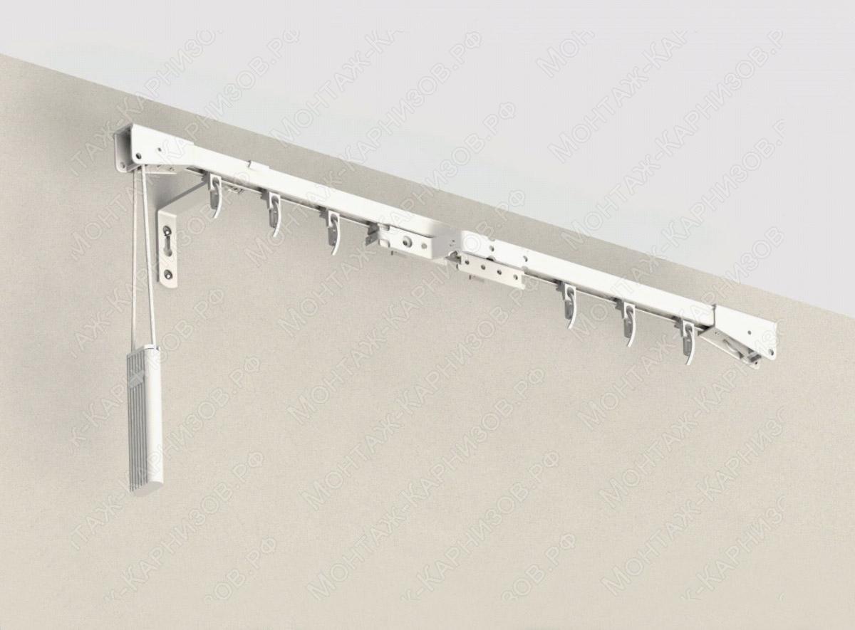 профильный карниз для штор CKS крепление к стене