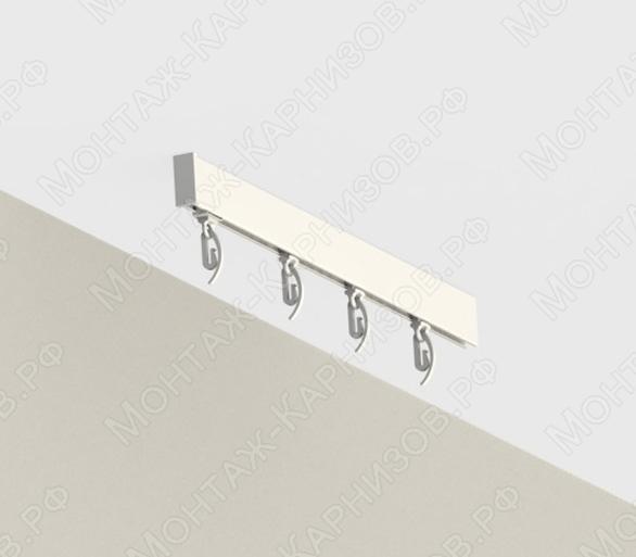 Профильный карниз для штор CT-41 крепление к потолку