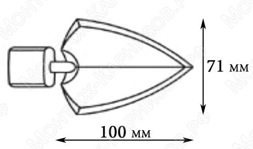 размер наконечника Копье